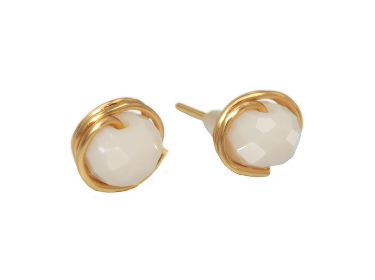 Boucles d 'oreilles Nelis ( Plaqué or)