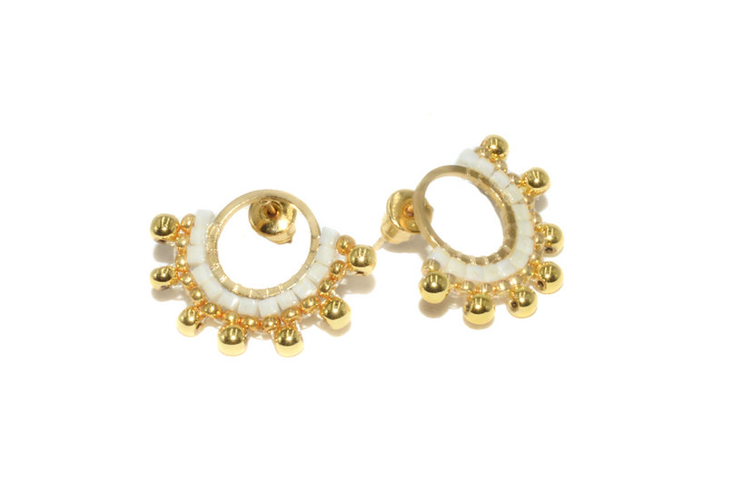 Boucles  d'oreilles Nita- Hématite