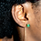Thumbnail: Boucles d'oreilles Nilanis ( Plaqué or)