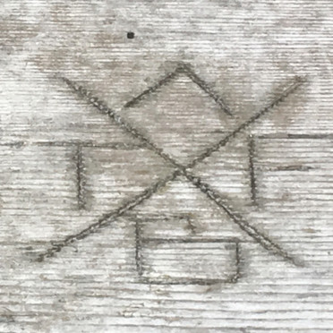 initials carved into lost lake wharf