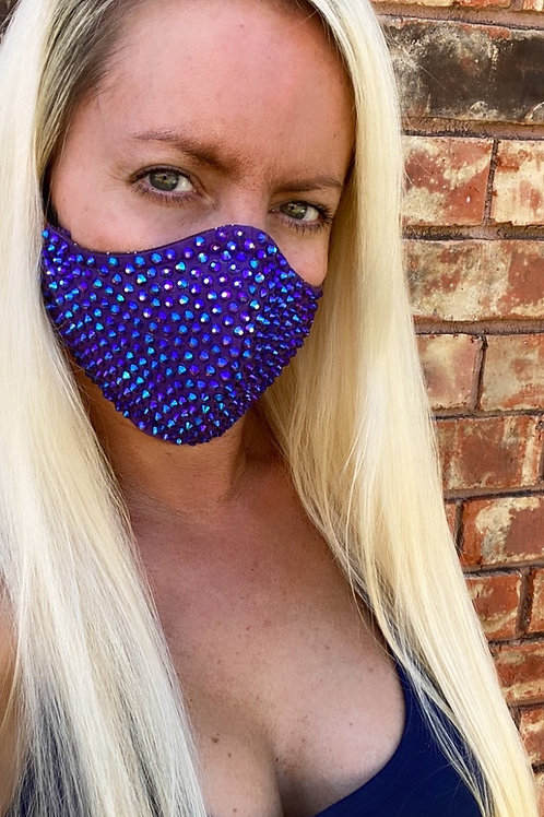 Purple crystal WOMEN's 3-layer mask