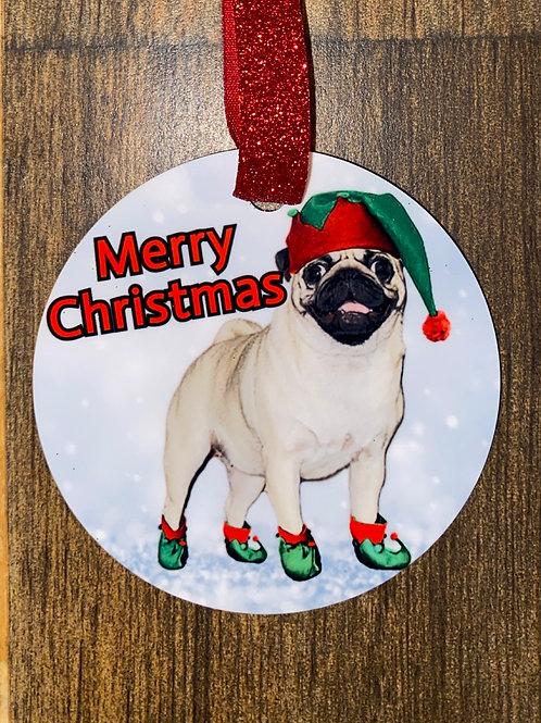 Ornament-pug elf