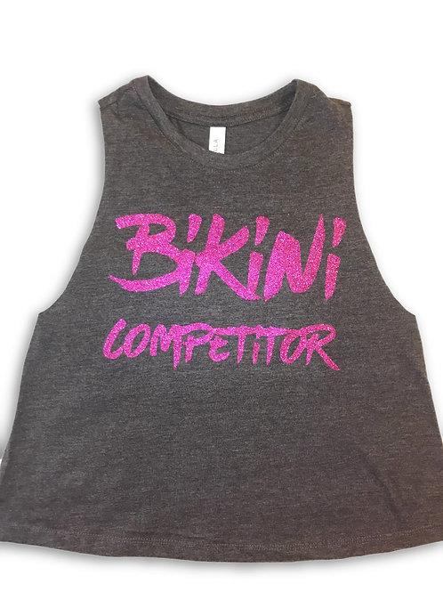 Bikini Competitor-dark grey/fuchsia