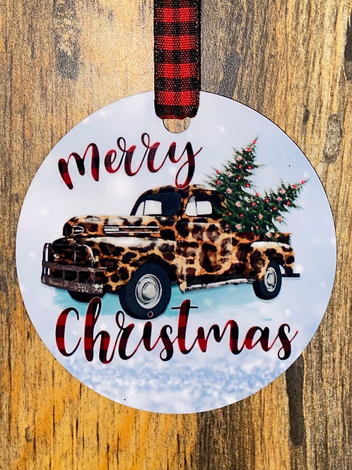 Ornament-leopard truck