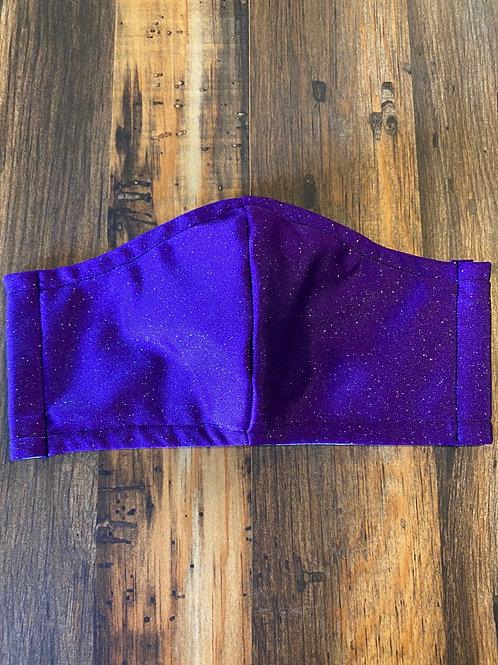 Purple/silver glitter 3-layer WOMEN's mask