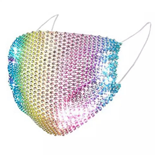 Crystal net mask-rainbow