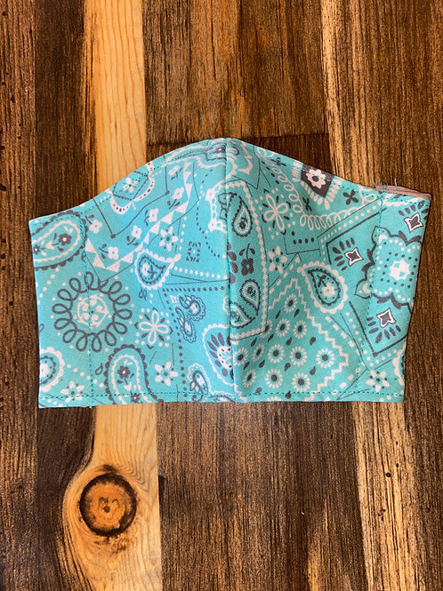 Aqua bandana 3-layer mask