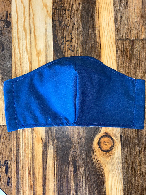 MEN's dark blue 3-layer mask