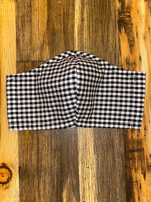 WOMEN's blk checkered print 3-layer bandanna