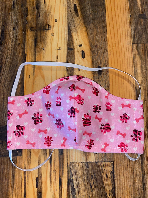 Pink puppy dog print-WOMAN's 3-layer mask