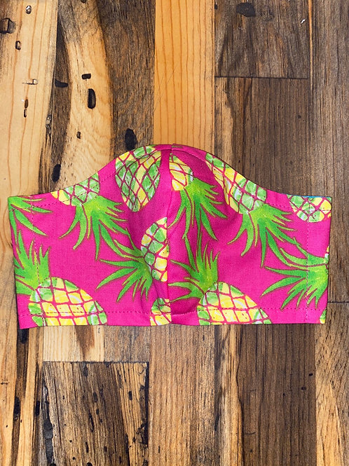 Hot pink pineapple 3-layer mask