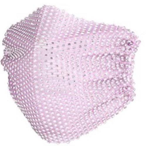 Crystal net mask-lilac crystal