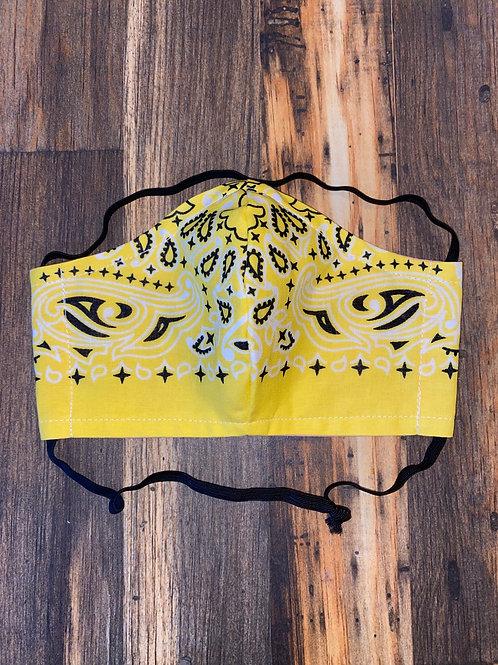 Yellow bandana WOMEN's 3-layer mask