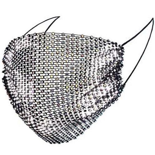 Crystal net mask-black AB crystal