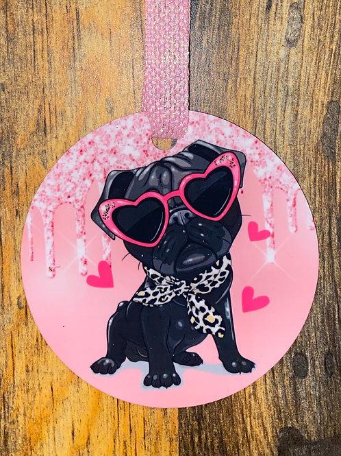 Ornament-sassy pug