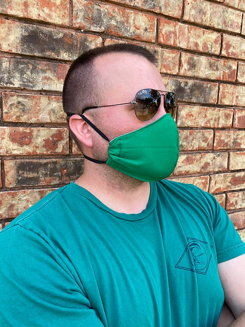 MEN's Kelly green 3-layer mask