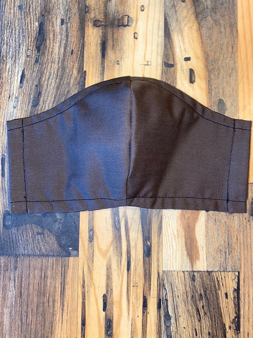 MEN's brown 3-layer face mask