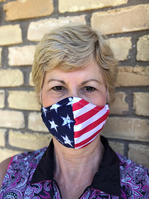 Stars & stripes WOMEN's 3-layer mask