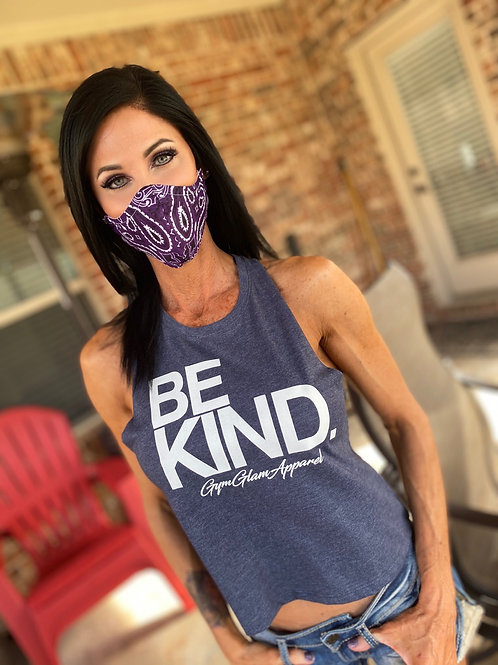 Purple bandana WOMAN's 3-layer mask