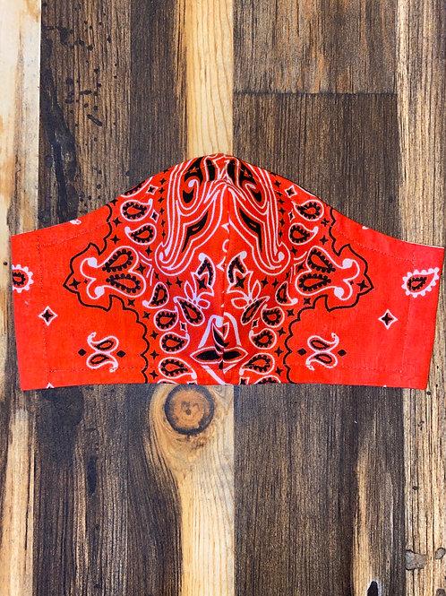 WOMEN's orange bandana 3-layer mask