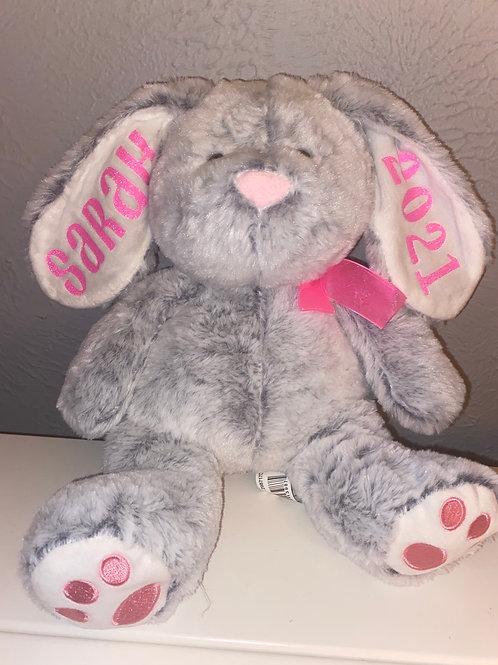 Grey Easter Bunny (customized)