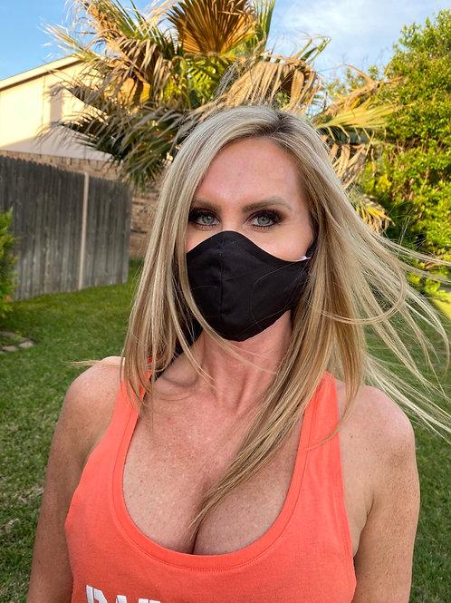 WOMAN's Black 3-layer mask