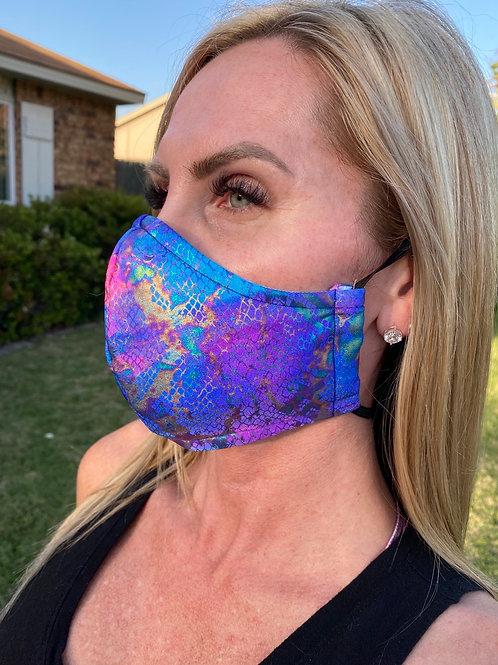🦄 Unicorn snake skin 3-layer WOMEN's mask