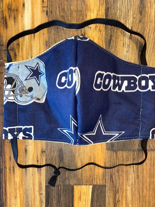 Cowboys WOMAN's 3-layer mask