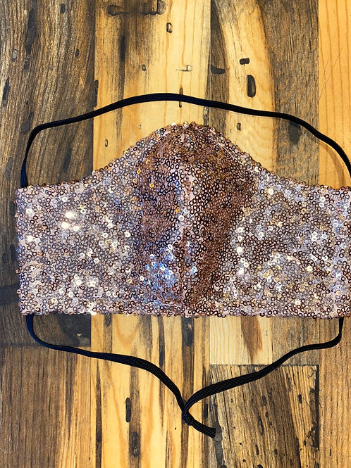Rose gold sequin WOMEN's 3-layer mask