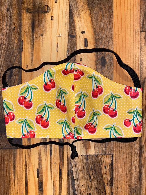 Yellow cherries WOMAN's 3-layer mask