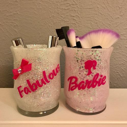 2 makeup brush holders