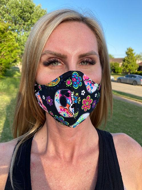 Sugar skulls WOMAN's 3-layer mask