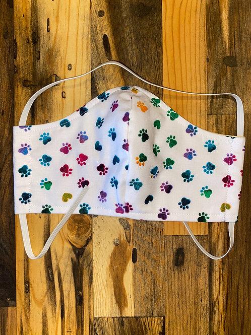 Rainbow puppy dog print-WOMAN's 3 layer mask