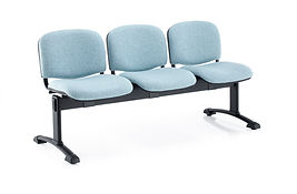Multi-position beam units available with fully upholstered seat and back, or with a perforated polymer backrest.