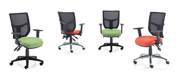Soft mesh back operator chair
