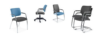 Elegant meeting and conference chairs with floating back design.