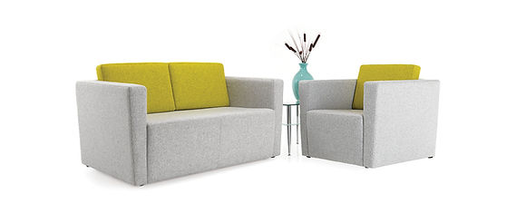 Contemporary armchair and sofa options ideal for adding a touch of style to your workplace reception