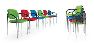 STACKABLE CONFERENCE AND MEETING CHAIRS