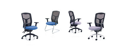 Heavy-duty mesh chair with multi-function mechanism, seat slide and tilt.