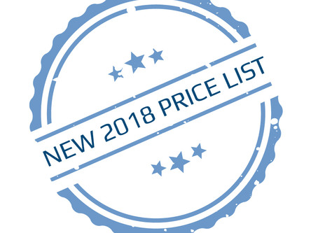 New 2018 PSI Price List
