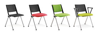 Elegantly styled, stackable conference and meeting chairs available with a variety of options.