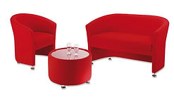 SINGLE AND TWO SEATER TUB CHAIRS WITH OPEN FRONTS