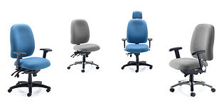 Memory foam seat, inflatable lumbar, seat slide and tilt with height adjustable backrest.