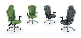 Multi-function mechanism, seat slide and tilt with height adjustable backrest. 24 hour chair