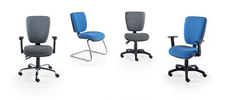 Great value operator chairs with a choice of mechanisms and armrests.