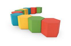 A Hexad office stool arrangement