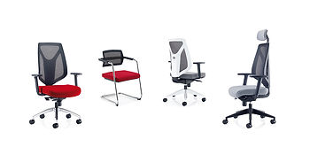 Contemporary high back mesh task chair