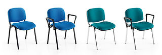 Contemporary multi-purpose stacking chairs available with swivel base, cantilever or four legged frame.