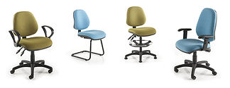 Dependable operator chairs with a selection of armrest and base options.