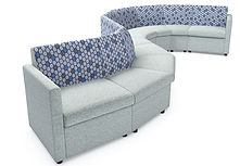 A conventional low-level modular seating system ideal for reception and breakout areas.